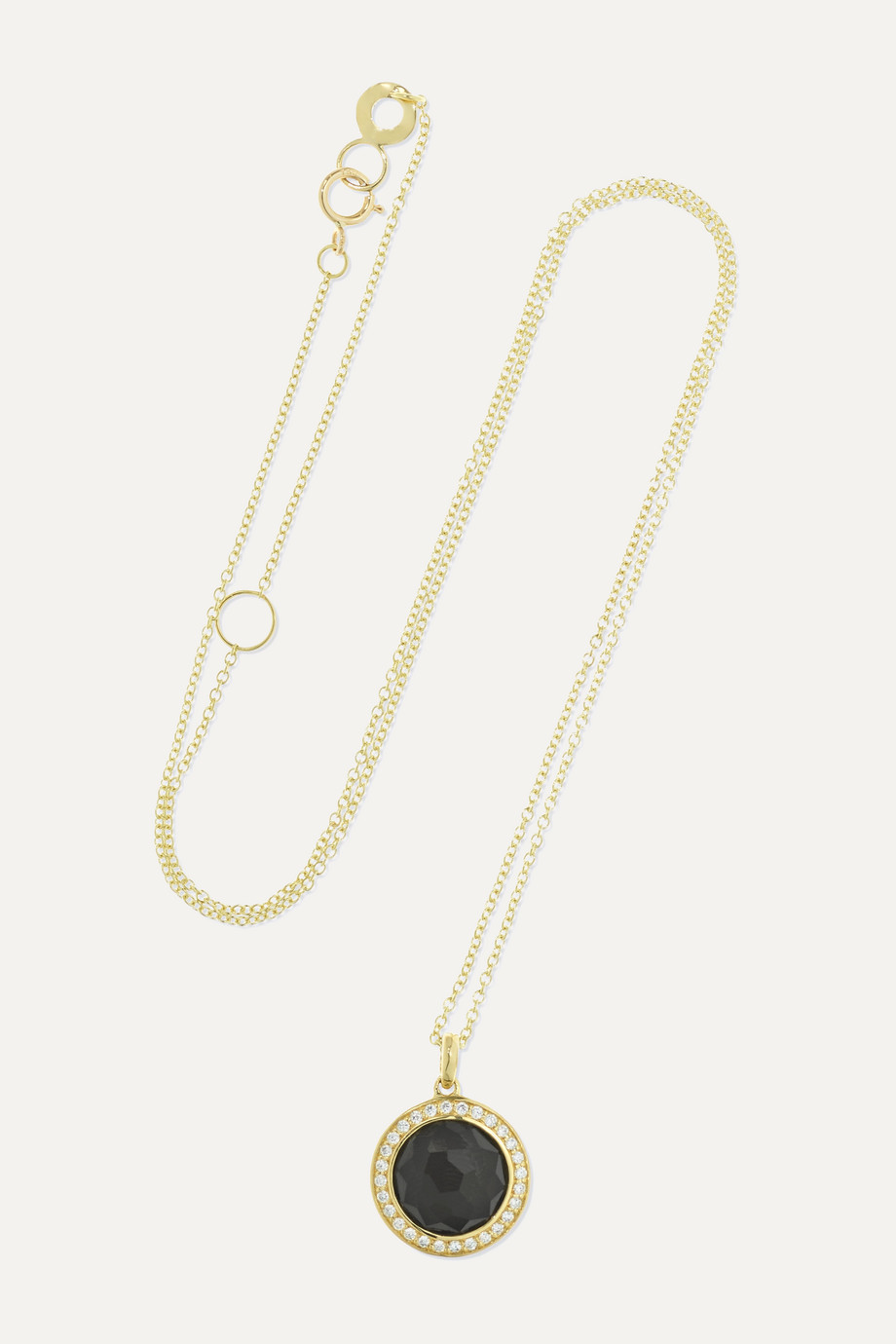 Ippolita Lollipop 18-karat gold onyx and diamond necklace