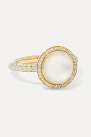 Lollipop Carnevale 18-karat gold, ceramic, mother-of-pearl and diamond ring