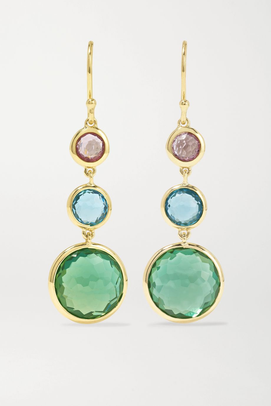 Ippolita Lollipop 18-karat gold multi-stone earrings