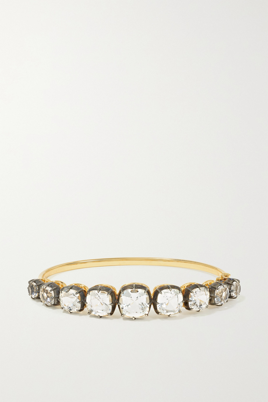 Fred Leighton Collection sterling silver-topped 18-karat gold topaz bracelet