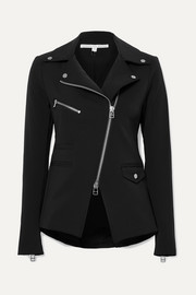 Hadley stretch-crepe biker jacket