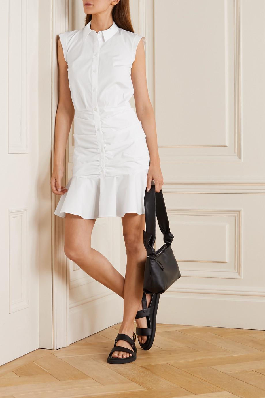Veronica Beard Bell Kleid aus Stretch-Baumwollpopeline mit Raffungen