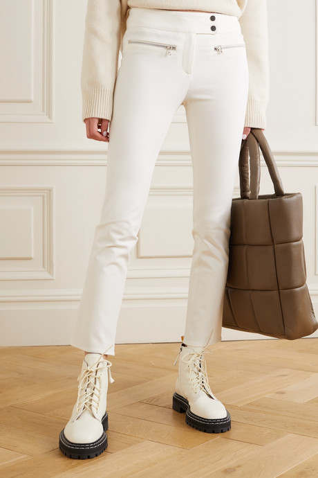 Metro cropped stretch-twill flared pants