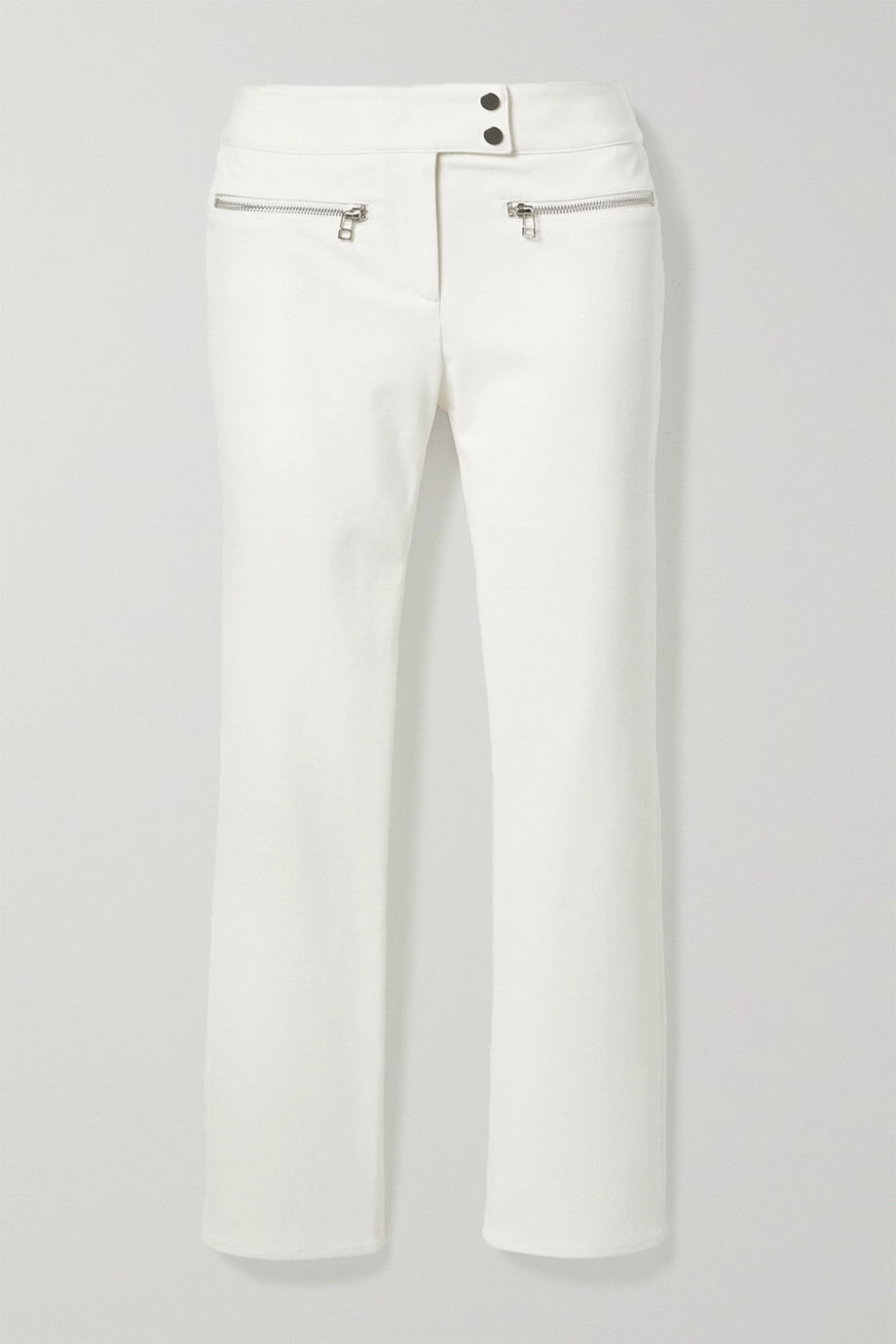 Veronica Beard Metro cropped stretch-twill flared pants