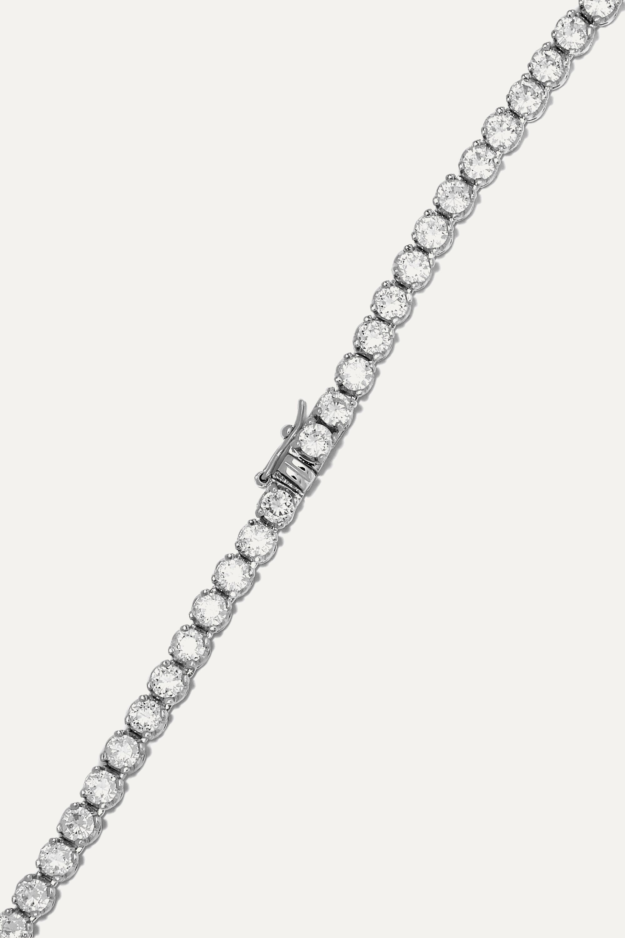Kenneth Jay Lane Silver-tone cubic zirconia necklace