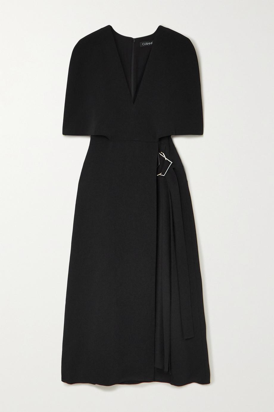 Cushnie Robe effet cape en cady et à plis