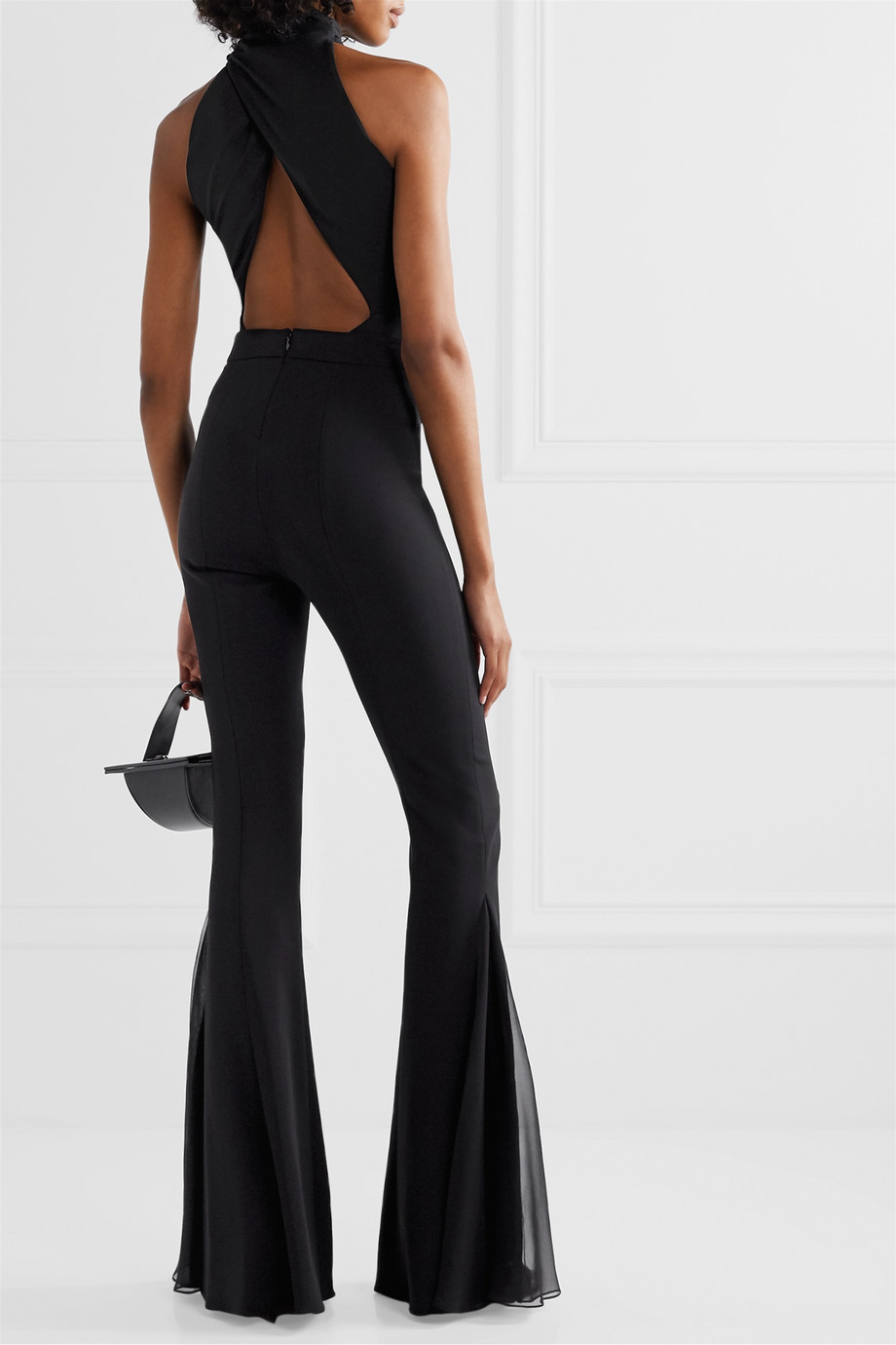 Cushnie Open-back stretch-crepe thong bodysuit