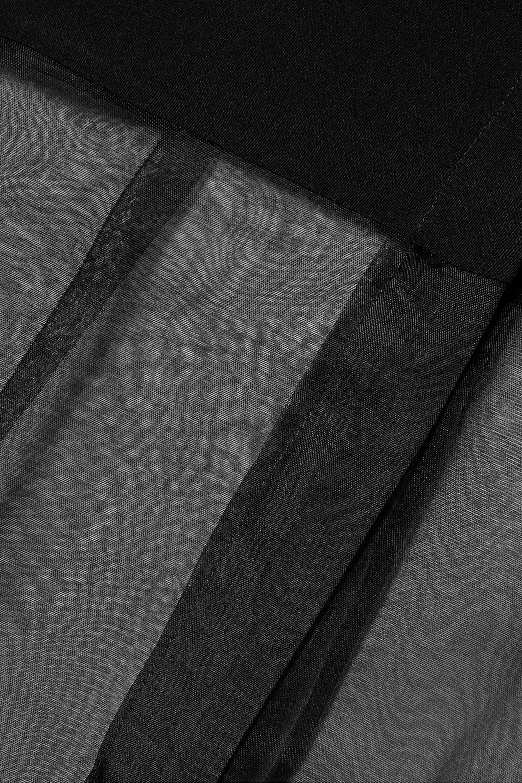 Cushnie Bluse aus Seidenorganza und Crêpe