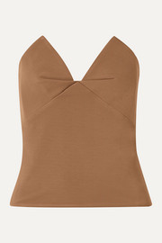 Cushnie Stretch-cady bustier top