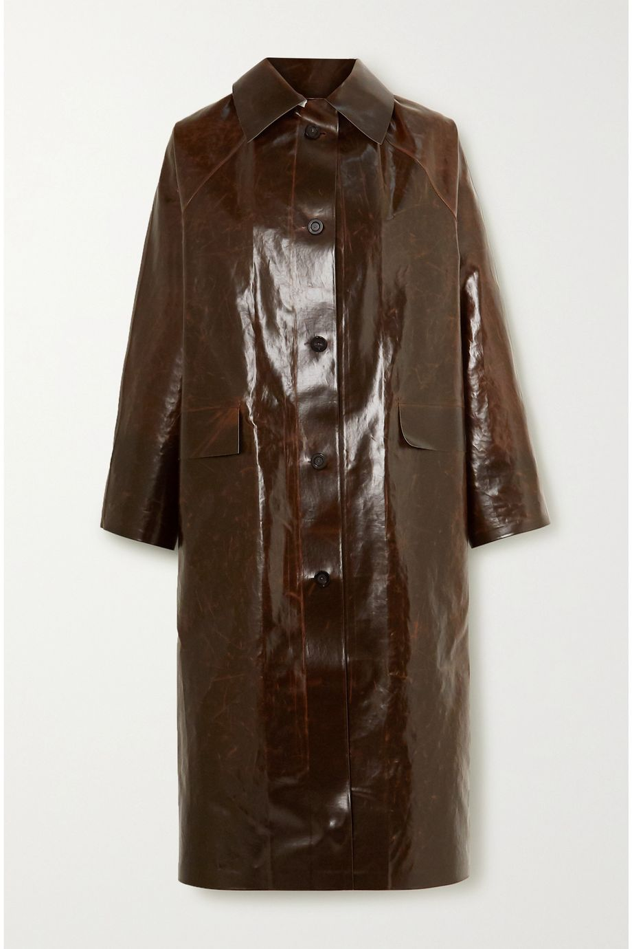 Kassl Editions Skai coated cotton-blend coat