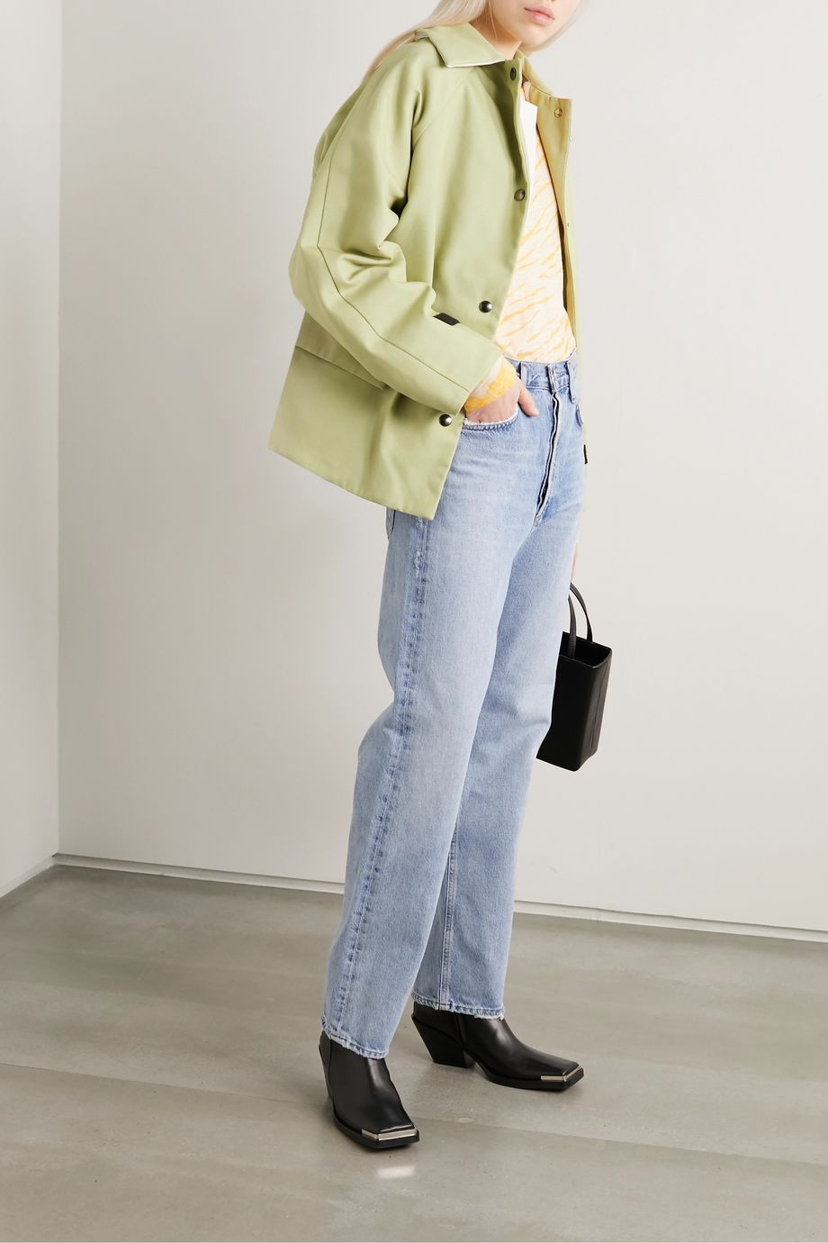 Kassl Editions Reversible canvas, shearling and shell coat