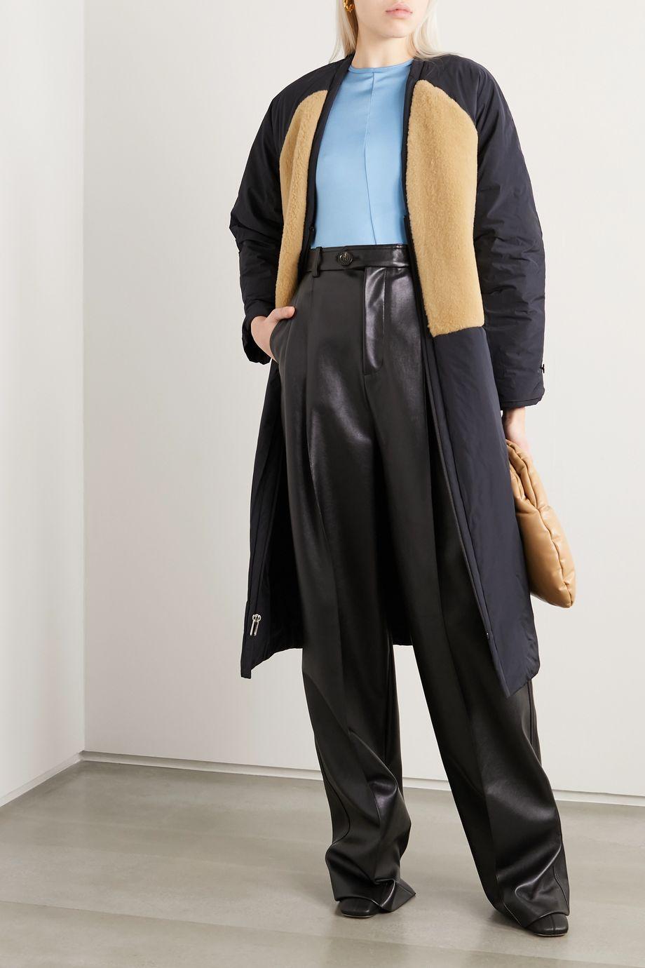 Kassl Editions Tafta  正反两穿羊毛皮边饰软壳面料外套