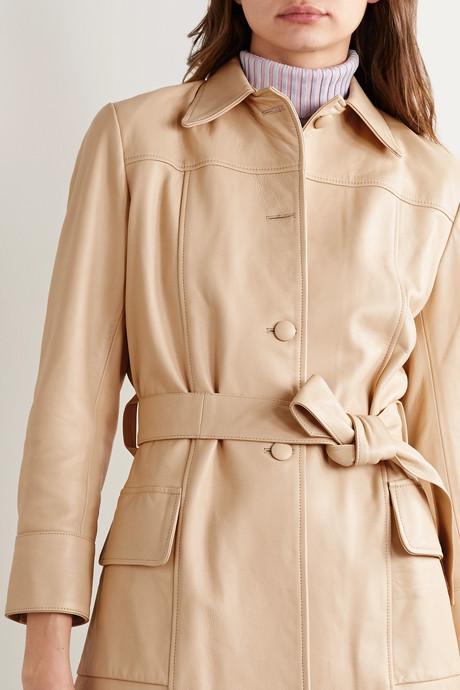 The Stratford belted leather jacket