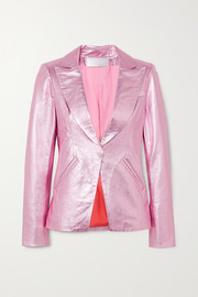 The Mighty Company The Hartland metallic leather blazer