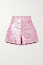 The Mighty Company The Hartland metallic leather shorts
