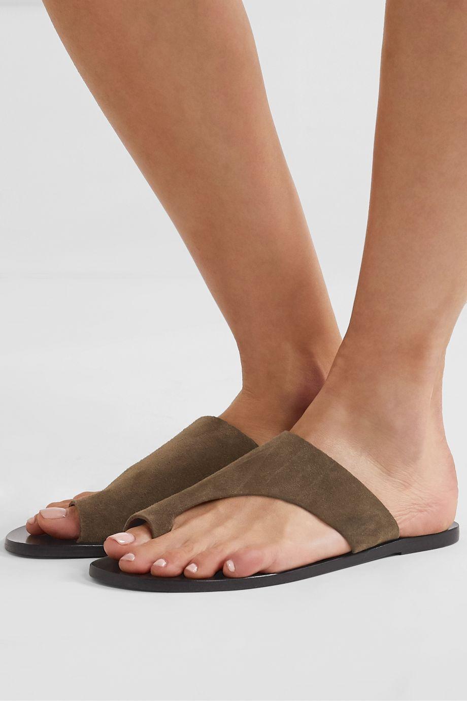 ATP Atelier Rosa cutout suede sandals