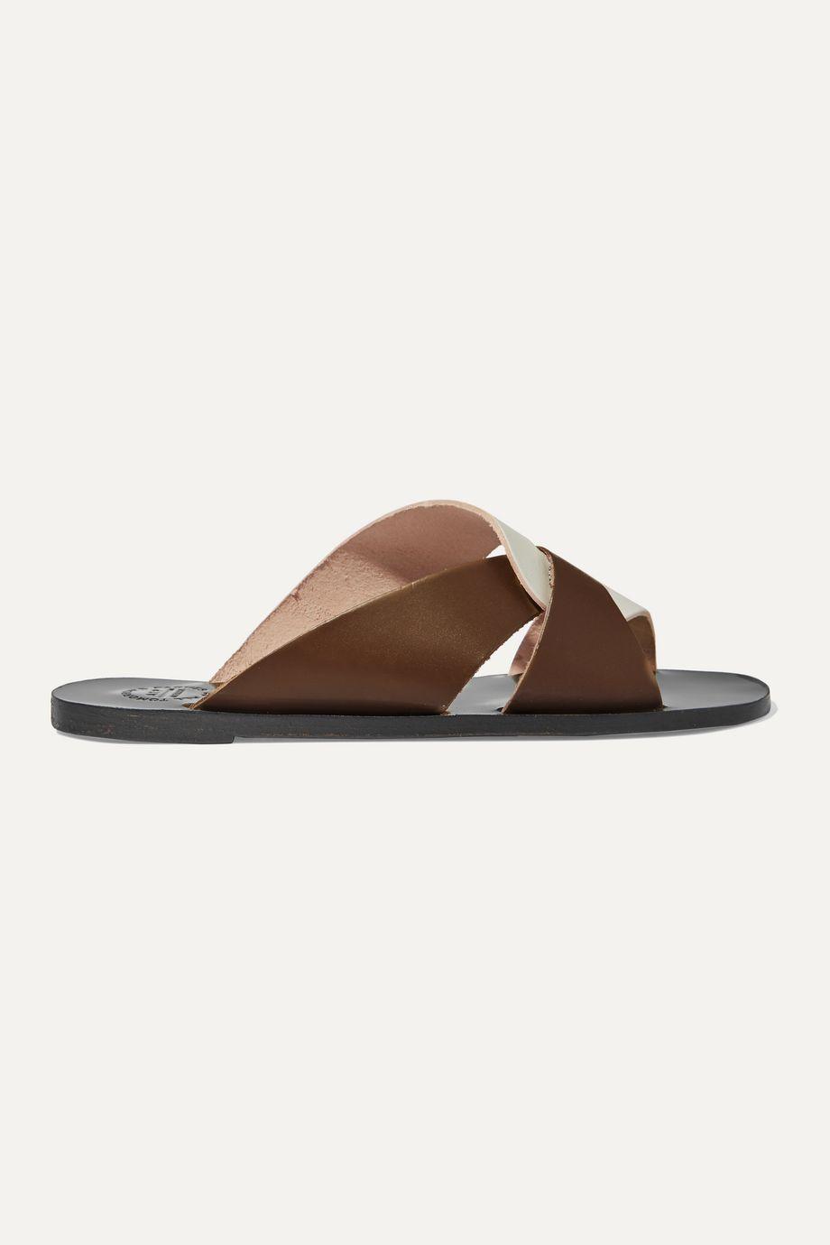 ATP Atelier Allai two-tone leather slides