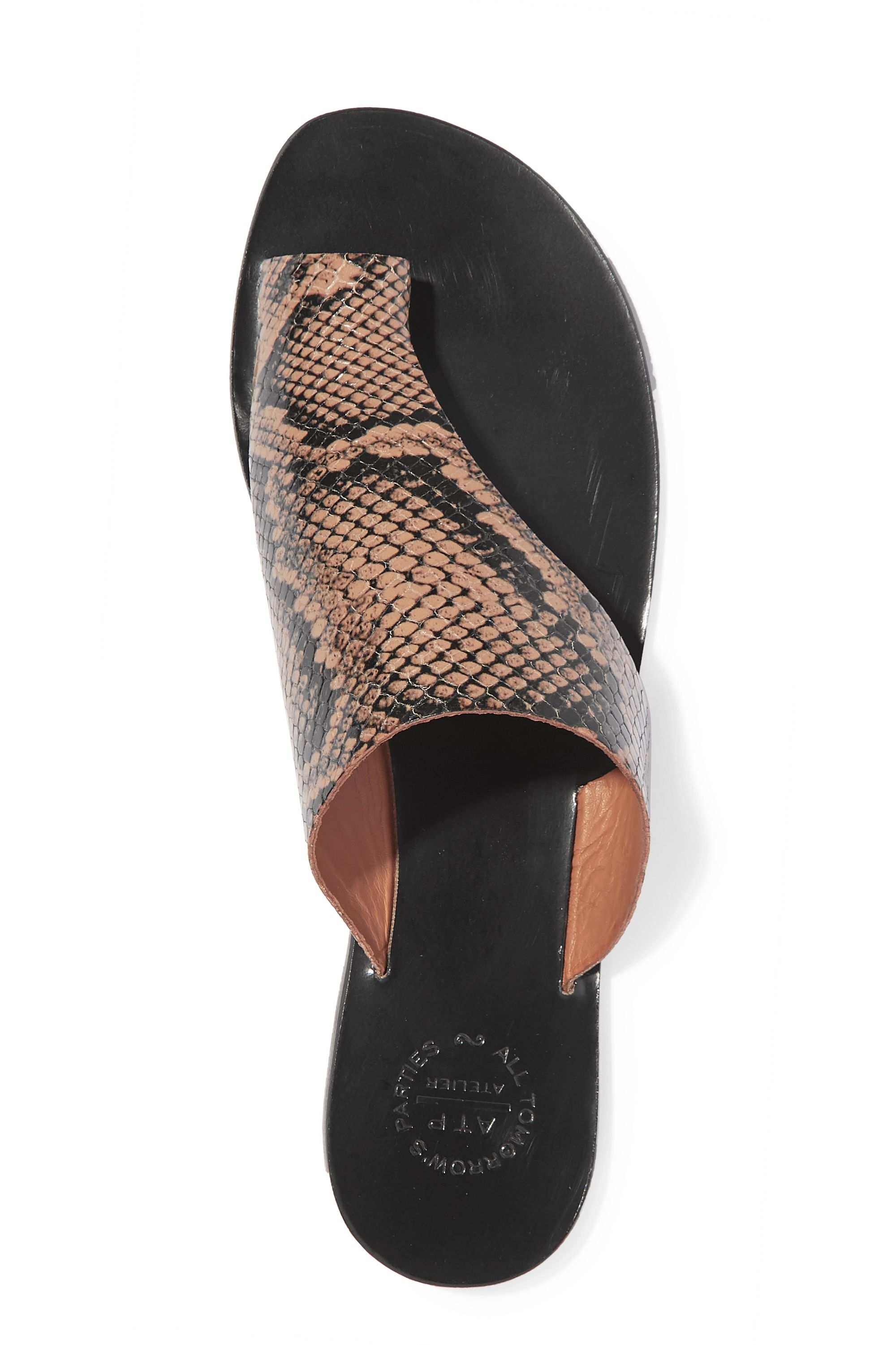 ATP Atelier Rosa cutout snake-effect leather sandals