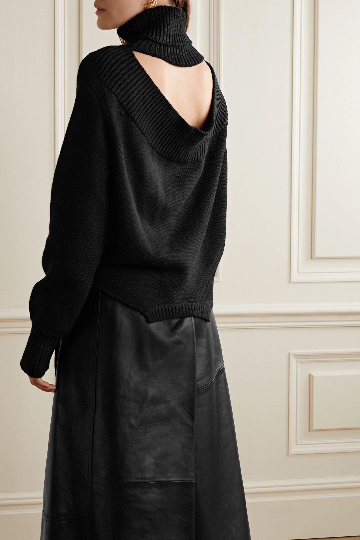Monse Upside Down oversized cutout merino wool turtleneck sweater