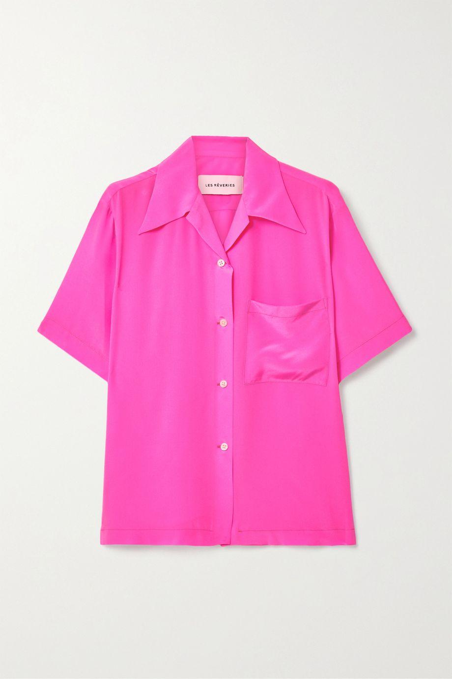Les Rêveries Silk crepe de chine shirt