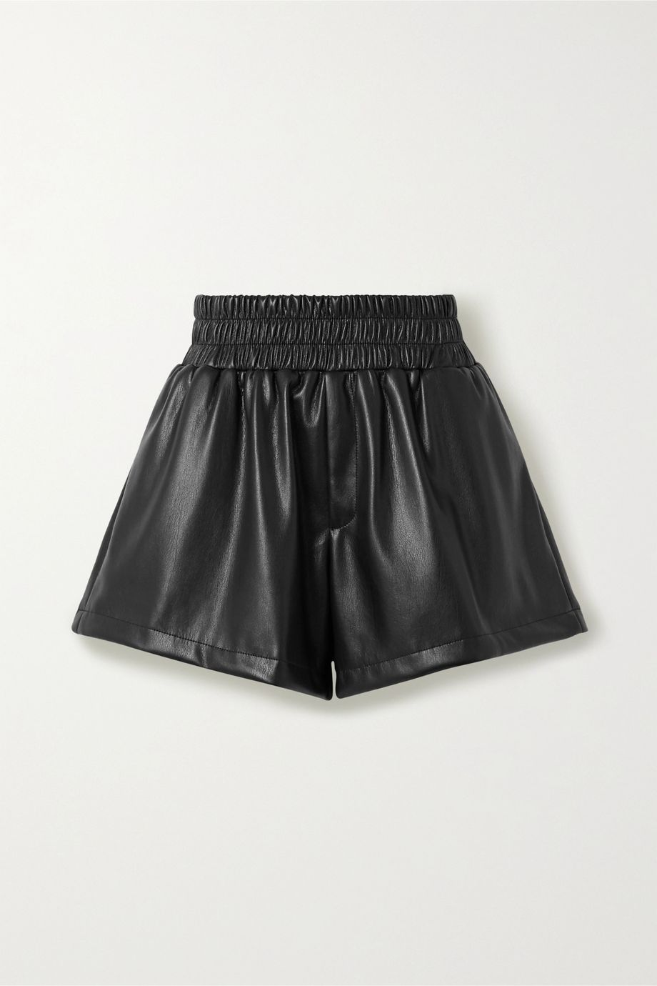 Les Rêveries Faux leather shorts