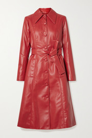 Les Rêveries Faux leather trench coat