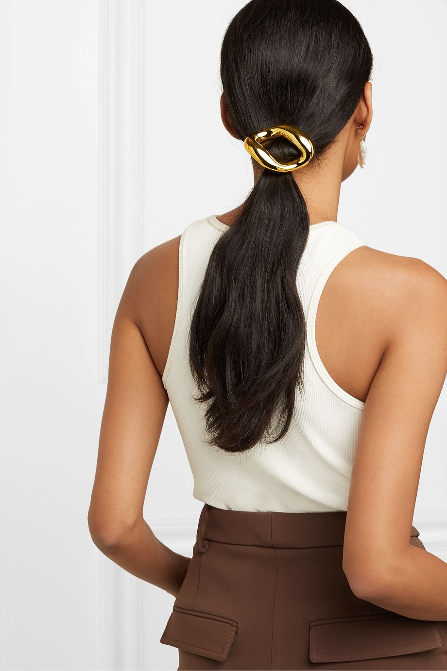LELET NY + The Haute Pursuit gold-tone hair clip