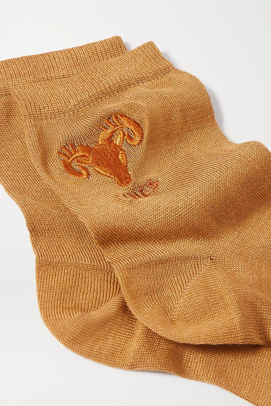 Maria La Rosa Aries embroidered silk-blend socks