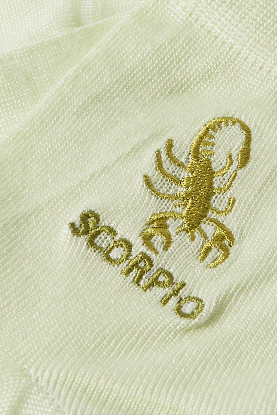 Maria La Rosa Scorpio embroidered silk-blend socks