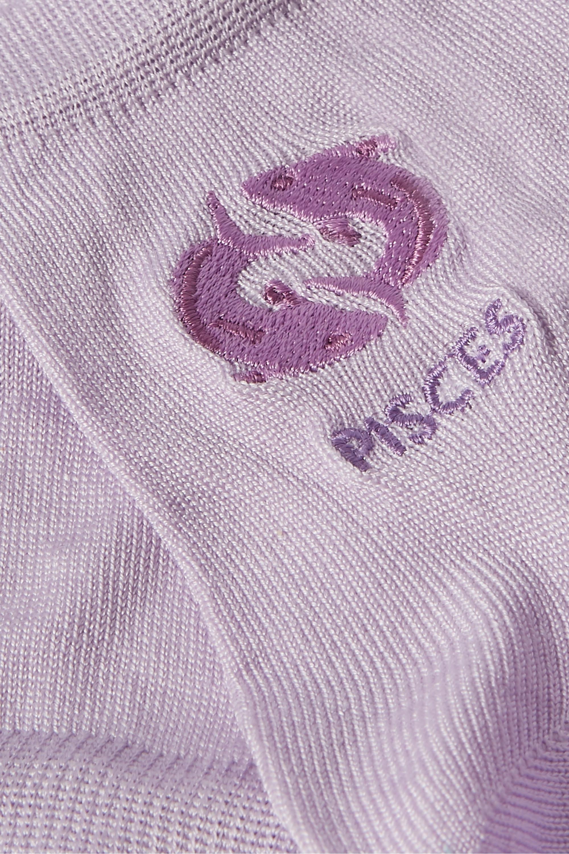 Maria La Rosa Pisces embroidered silk-blend socks