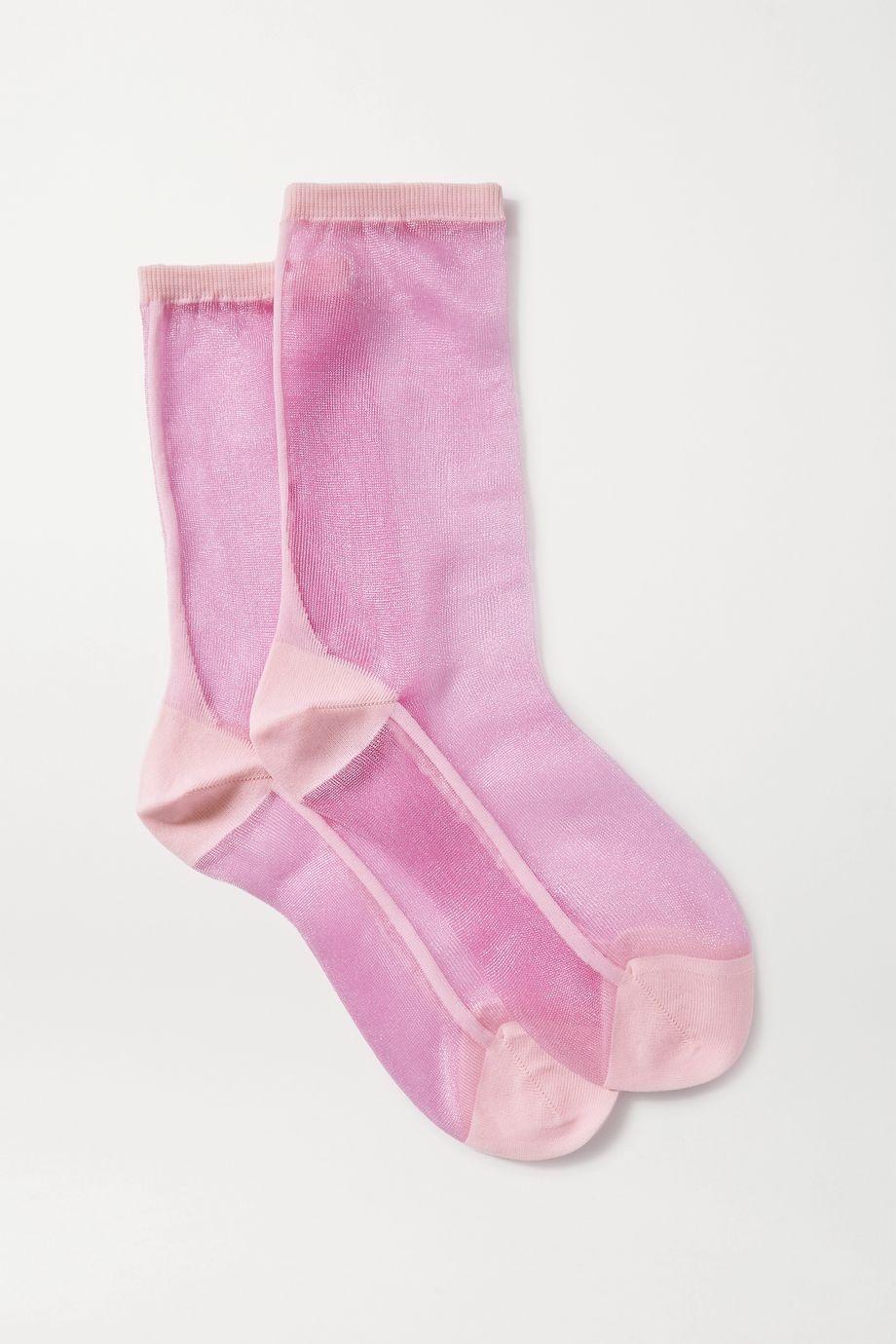 Maria La Rosa Golf two-tone tulle socks