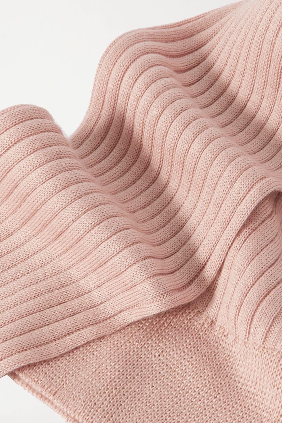 Maria La Rosa Ribbed organic cotton socks