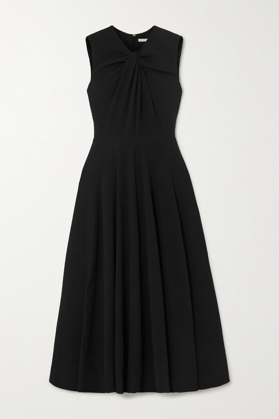 Emilia Wickstead Meryl twisted crepe midi dress