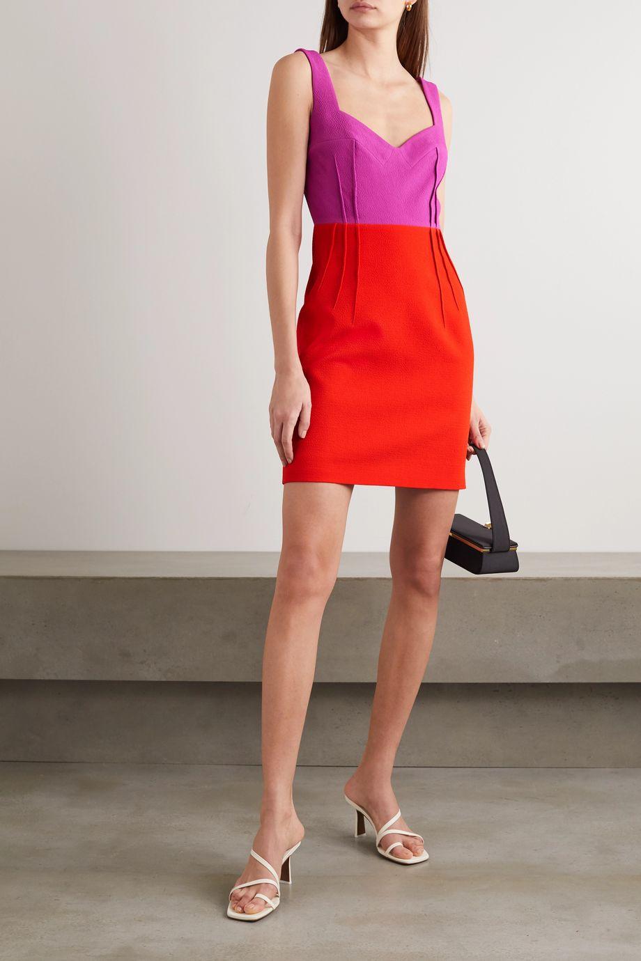 Emilia Wickstead Jude two-tone crepe mini dress