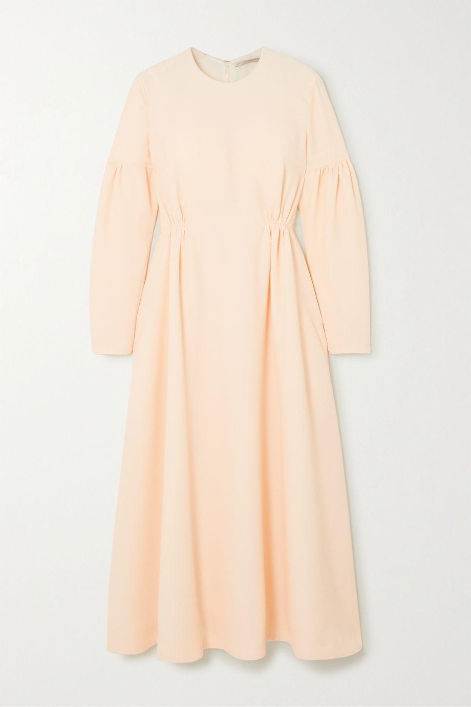Emilia Wickstead Cerise cloqué midi dress