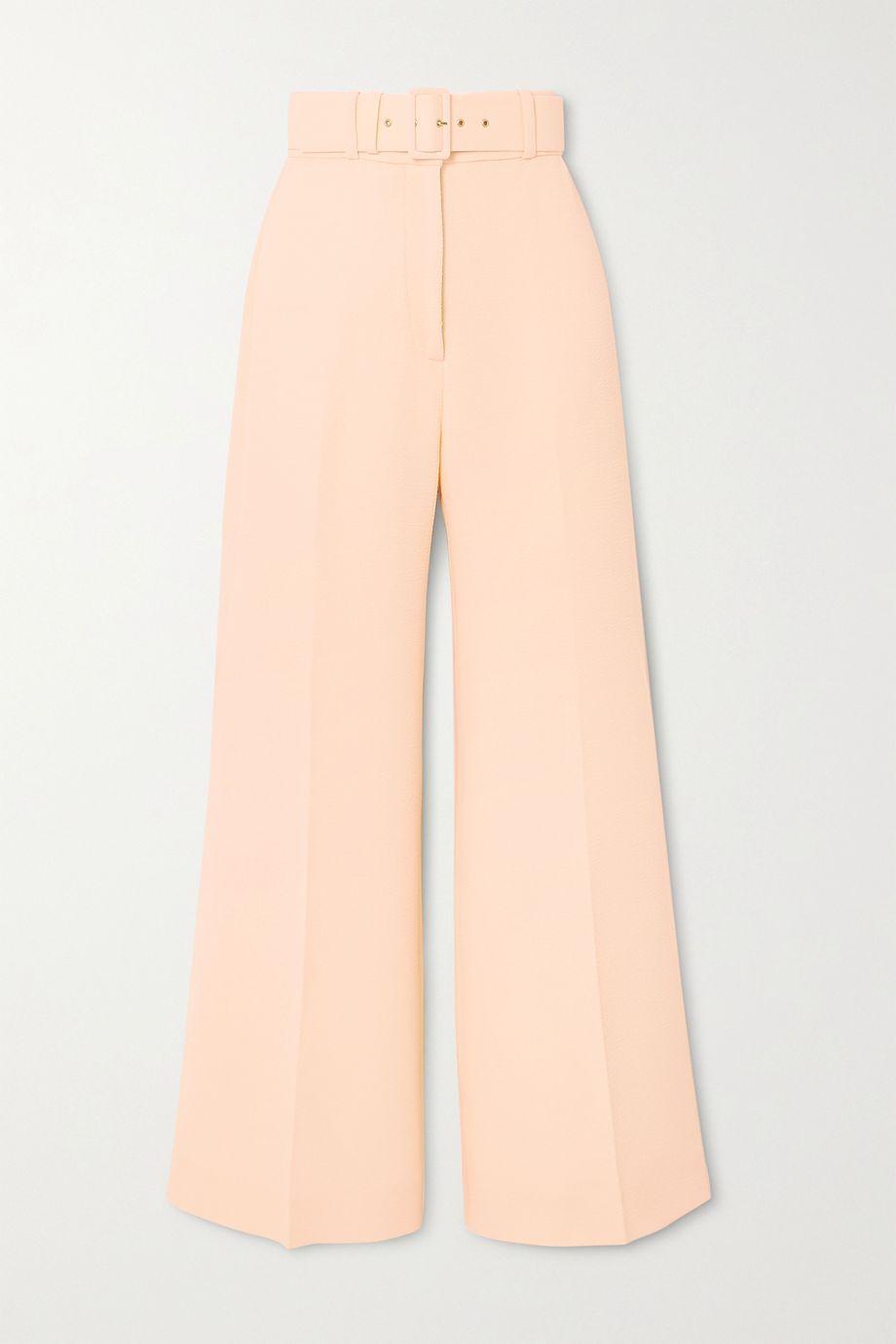 Emilia Wickstead Jana belted cloqué wide-leg pants