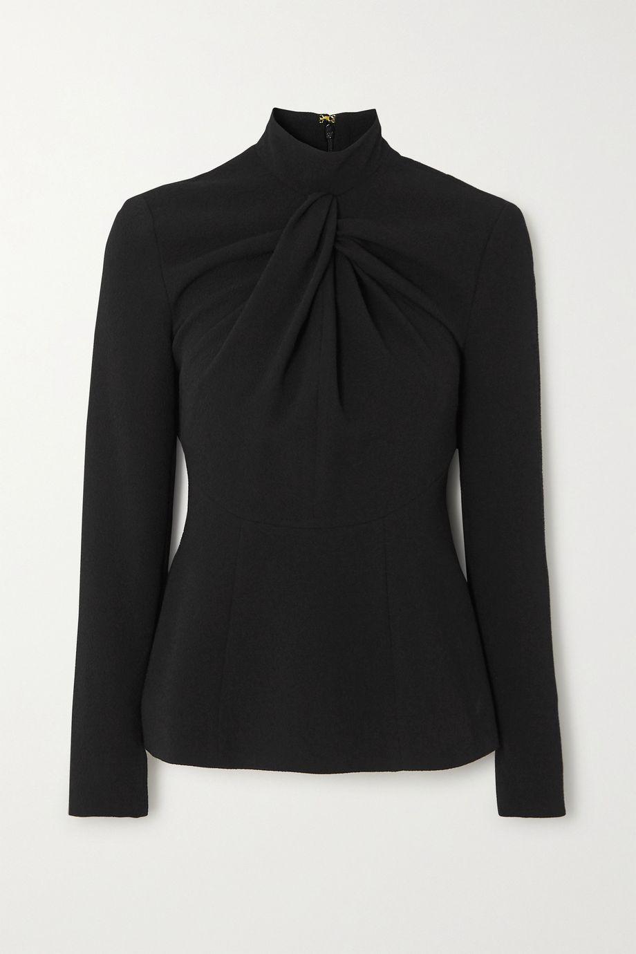 Emilia Wickstead Reina twisted crepe blouse