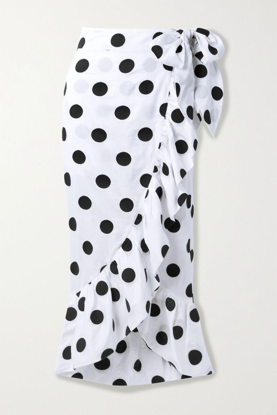 Mara Hoffman 【NET SUSTAIN】Eaven 波点有机纯棉围裹式半身裙