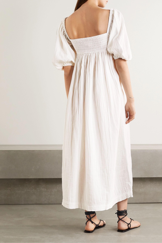 Mara Hoffman Violet crinkled organic cotton-gauze maxi dress