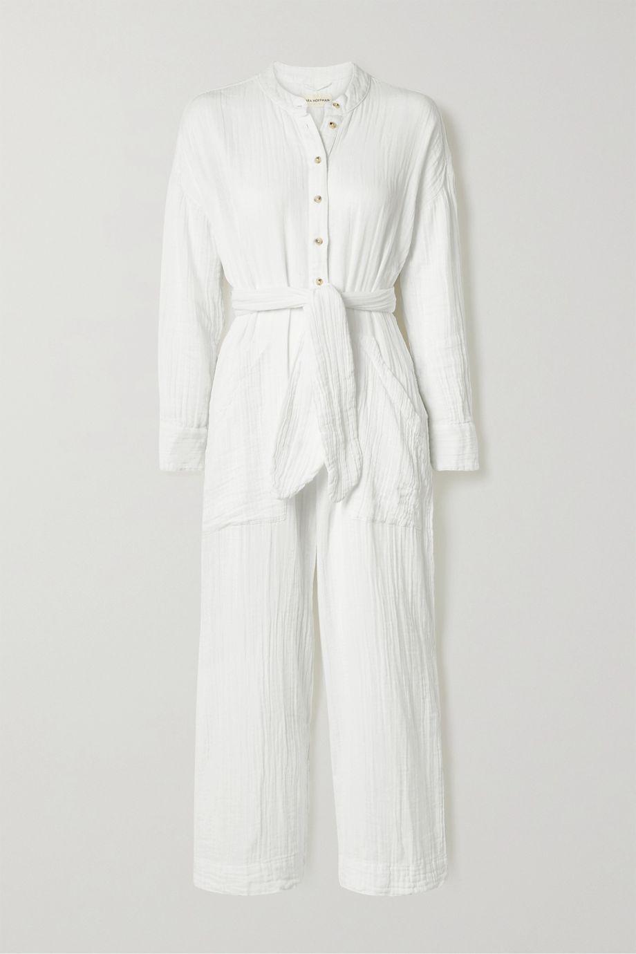 Mara Hoffman + NET SUSTAIN Manda crinkled organic cotton-gauze jumpsuit