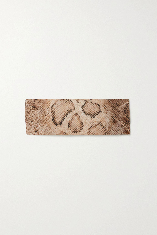 Mara Hoffman + NET SUSTAIN Abigail snake-print bandeau bikini top