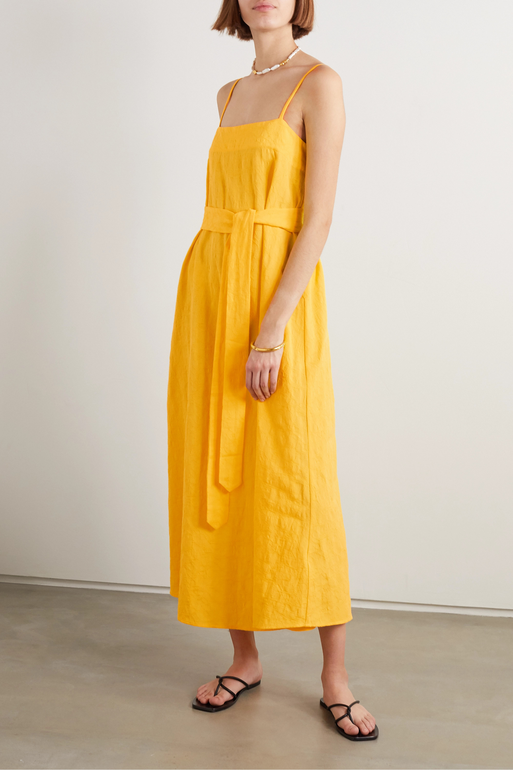 Yellow Linen Blend Dress