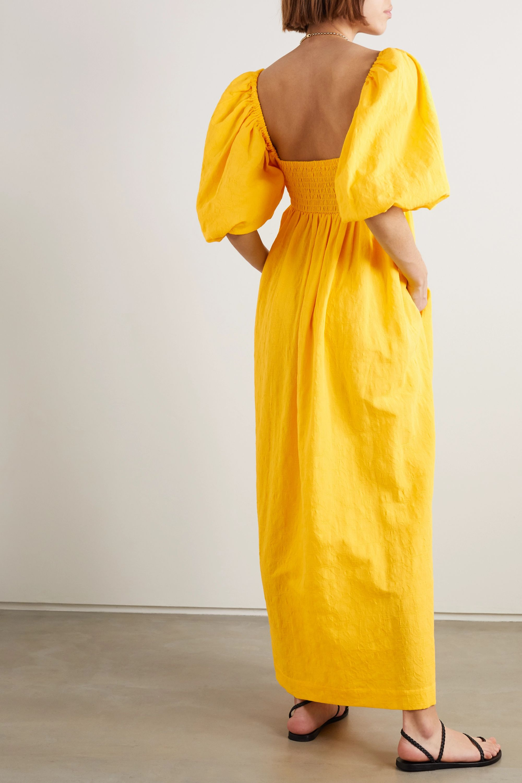 Mara Hoffman + NET SUSTAIN Violet organic cotton and organic linen-blend maxi dress