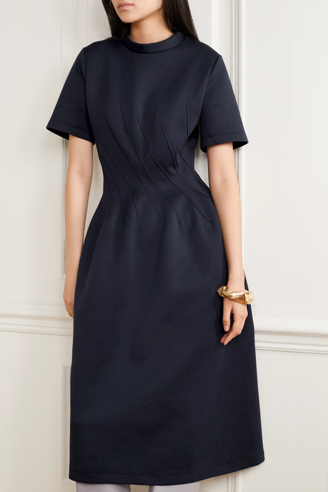 Cotton-blend jersey dress