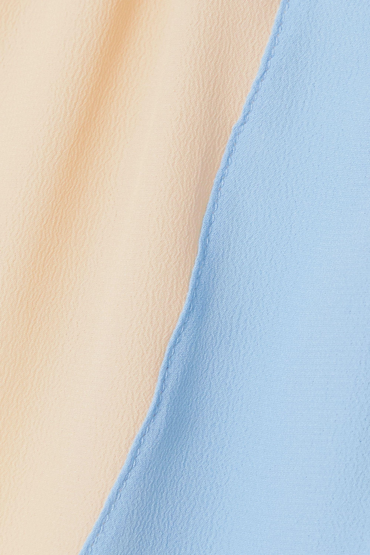 Marni Two-tone crepe top