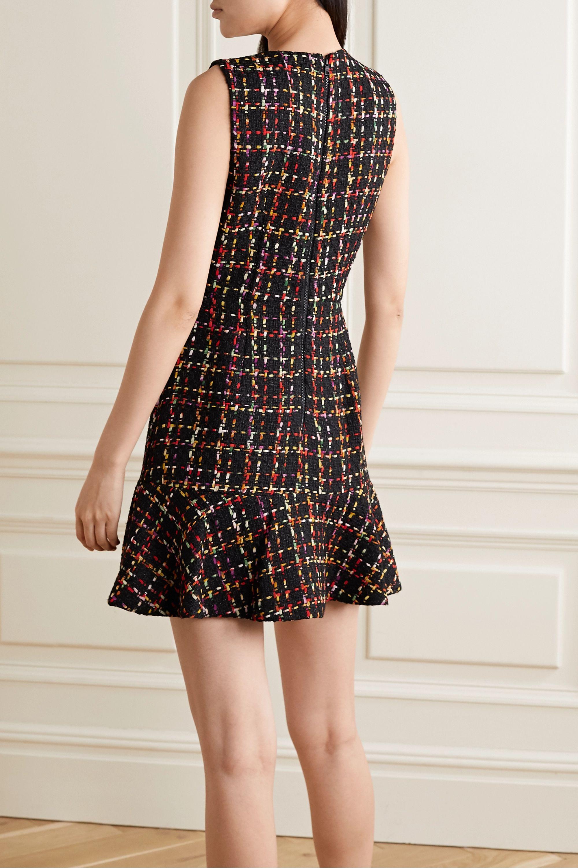 Alice + Olivia Sonny ruffled tweed mini dress