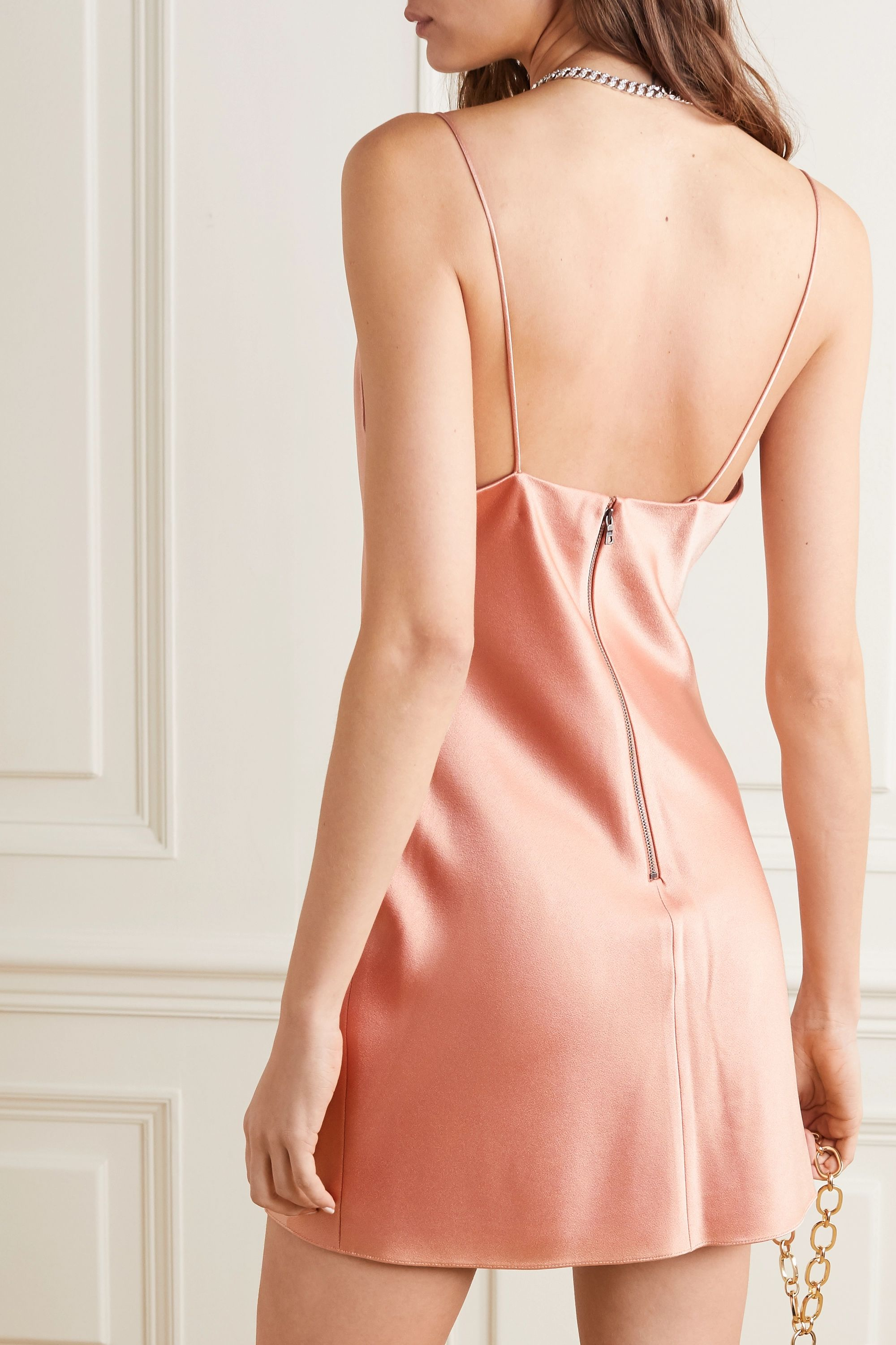 Alice + Olivia Harmony draped satin slip dress