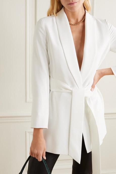 Wheaton belted crepe blazer