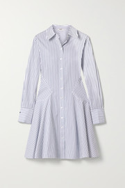 Jason Wu Paneled striped cotton-poplin dress