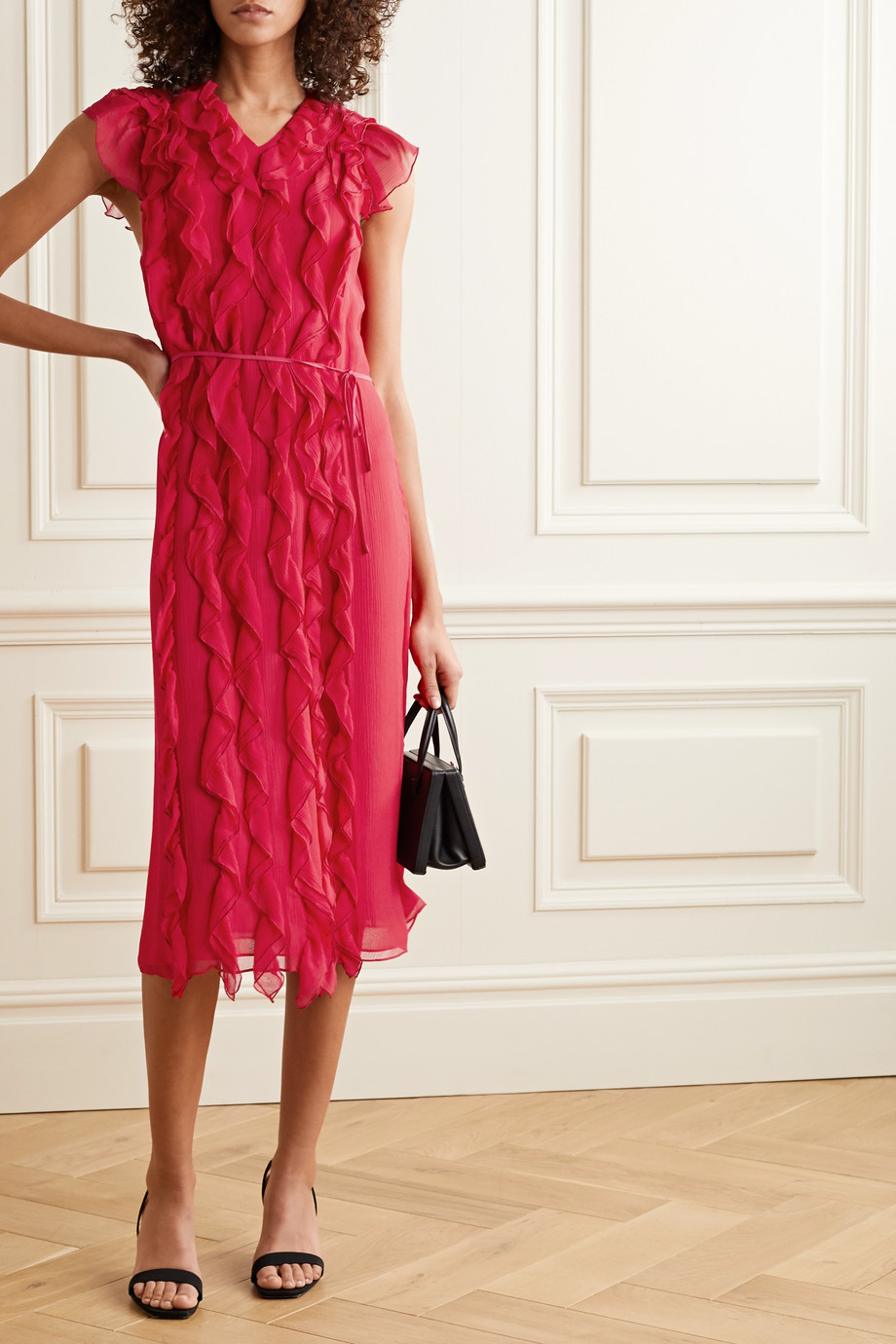 Jason Wu Ruffled silk-georgette midi dress